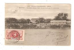 CPA SOUDAN KAYES Dernier Coup D'oeil En Partant Par Le Courrier Cours D'eau Animation Bâtiments 1910 - Soudan