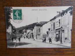 """52.HAUTE MARNE.CPA JOINVILLE.""""route De Vassy"""".belle Animation=magazins,publicités. - Joinville"""
