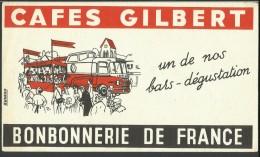 Buvard - Cafes Gilbert.         (2 Scans) - Café & Thé