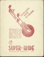 Buvard -- SUPER - IRIDE,NOTE DI COLORE.         (2 Scans) - Textile & Vestimentaire