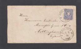 BRIEF VON AROLSEN NACH ENGLAND 1876. - Allemagne