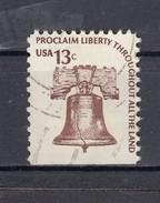 USA 13 C. Freiheitsglocke Michel 1191 1975 -  Unten Geschnitten, 2 Kreis - Gebraucht