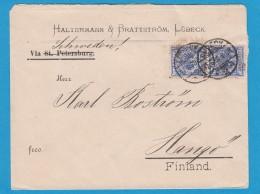 BRIEF VON LÜBECK NACH FINLAND,VIA SCHWEDEN,1898. - Briefe U. Dokumente