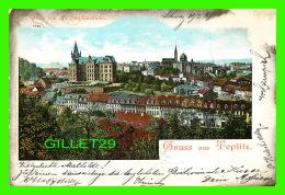 TEPLITZ, TCHÉQUIE - GRUSS AUS TEPLITZ,  BLICK VON DER STEPHANSHOHE  - TRAVEL IN 1901 - UNDIVIDED BACK - - Tchéquie