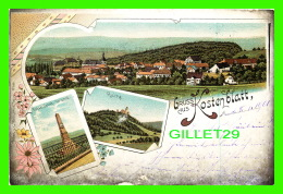 KOSTEN, TCHÉQUIE - GRUSS AUS KOSTEN CLATT - TRAVEL IN 1901 - UNDIVIDED BACK - 3 MULTIVIEWS - - Tchéquie
