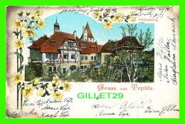 TEPLITZ, TCHÉQUIE -GRUSS AUS TEPLITZ - SCHLOSSBERG - TRAVEL IN 1901 0 UNDIVIDED BACK - - Tchéquie
