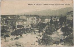 Marina Di Carrara. Piazza Vittorio Emmanuele, Vista Dall'alto. Place Victor Emmanuel. CPA Animée, Animata. - Carrara