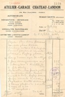 ROBERT GAIFFE ATELIER GARAGE CHATEAU LANDON 24 RUE CHAUDRON PARIS Xe  02/1948 - Frankreich