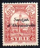 "Syrie ; Sandjak D´Alexandrette ;Mth; 1938; N° Y: 2 ; Neuf  ; "" Alep "" ;cote Y : 1.30 E."