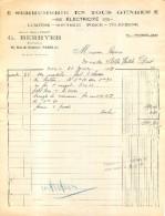 BERRYER  G.  SERRURERIE EN TOUS GENRES 48 RUE DE CHABROL  PARIS Xe  01/1931 - Frankreich