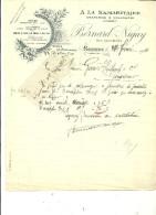 71 - Saône-et-loire - MARCIGNY - Facture BERNARD-NIGAY - Draperies, Nouveautés – 1924 - REF 43B - France