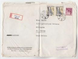 1966 Registered COVER GAS PRESSURE PRODUCTION SYMPOSIUM  Prag CZECHOSLOVAKIA  To ICI GB Stamps Energy - Cartas