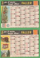Calendario FALLER Auto Nodels Toys Car Motor Sport 1964 - Calendari