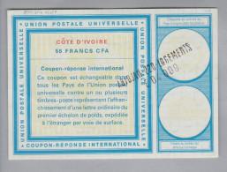 Afrika Còte D'Ivoire Ganzsache Coupon Réponse International 55 CFA Francs - Côte D'Ivoire (1960-...)