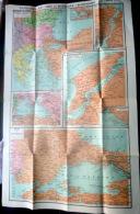 GUERRE D'ORIENT  TURQUIE RUSSIE DARDANELLES MER NOIRE ET MER DE MARMARA  VERS 1915 - Mapas