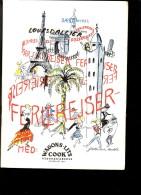 WAGONS LITS COOK SAISON 1952 En DANOIS CORSICA SUISSE PARIS SVERIGE NORDAFRIKA AGIER MARONKO SPANIEN MALLORCA SICILLIEN - Scandinavian Languages