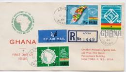 Ghana 1966, Registered FDC, Complete Serie - Ghana (1957-...)