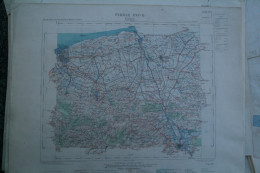 62 - CALAIS - CARTE GEOGRAPHIQUE 1890- SAINT OMER- WATTEN- BOURBOURG-GRAVELINES- COULOGNE- HOLQUE-MILLAM- GUEMY - Geographical Maps