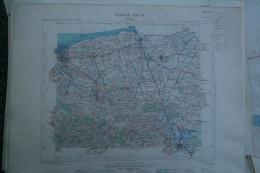 62 - CALAIS - CARTE GEOGRAPHIQUE 1890- SAINT OMER- WATTEN- BOURBOURG-GRAVELINES- COULOGNE- HOLQUE-MILLAM- GUEMY - Mapas Geográficas