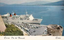 """Corse 20 - Calvi - Arrivée Paquebot """"Corse"""" - 1974 - Calvi"""