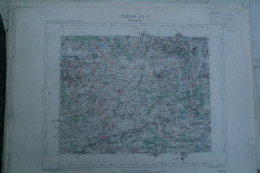 59- MAUBEUGE- CARTE GEOGRAPHIQUE 1889- MONS-GIVRY-HULCHIN-PERONNES-ESTINNE-THUIN-THIRIMONT-BOUSIGNIES-JEUMONT - Geographical Maps