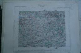 59- MAUBEUGE- CARTE GEOGRAPHIQUE 1889- MONS-GIVRY-HULCHIN-PERONNES-ESTINNE-THUIN-THIRIMONT-BOUSIGNIES-JEUMONT - Cartes Géographiques