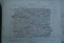 59- DOUAI- CARTE GEOGRAPHIQUE 1890- BRUNEMONT- WANCOURT- MERICOURT-RIEULAY- COUTICHES-ECAILLON-ROEULX- DROCOURT - Cartes Géographiques