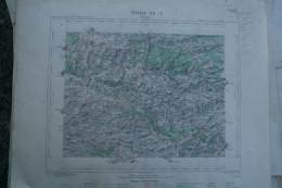 02- VERVINS- CARTE GEOGRAPHIQUE 1891- AOUSTE-HIRSON-WATIGNY-CHAAMPLIN- LUZOIR-LA CAPELLE- LERZY- HARCIGNY-LANDOUZY - Cartes Géographiques