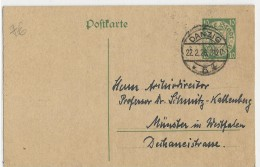 DANZIG - 1926 - CARTE POSTALE ENTIER De DANZIG Pour MÜNSTER - Danzig