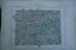 02- AVESNES- CARTE GEOGRAPHIQUE 1890- TRELON- RAMOUSIES- BEAURIEUX- BEAUMONT- DAMOUSIES- CARTIGNIES-SELOIGNES-RAINSARS- - Cartes Géographiques