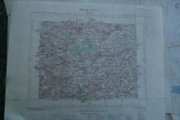 62- BETHUNE- CARTE GEOGRAPHIQUE 1891-MERVILLE- ANNEZIN- WITTES- LILLERS-LAMBRES- HAZEBROUCK-STRAZEELE- BERQUIN- BAILLEUL - Cartes Géographiques