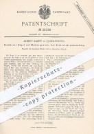 Original Patent - Albert Kampf In Quedlinburg , 1885 , Bügel Mit Muttergewinde Bei Niederschraubventilen | Ventile !! - Historische Dokumente