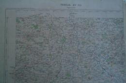 36- 23-87 AIGURANDE- CARTE GEOGRAPHIQUE  FIN XIXE S.- ST GERMAIN BEAUPRE -LA CHATRE-AZERABLES-LOURDOUEIX-CHENIERS-ARNAC - Cartes Géographiques
