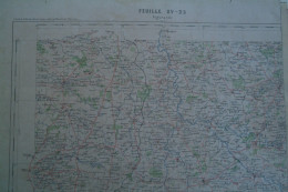 36- 23-87 AIGURANDE- CARTE GEOGRAPHIQUE  FIN XIXE S.- ST GERMAIN BEAUPRE -LA CHATRE-AZERABLES-LOURDOUEIX-CHENIERS-ARNAC - Geographical Maps