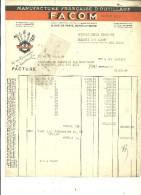 94 - Val-de-marne - GENTILLY - Facture FACOM - Manufacture D'outillage – 1949 - REF 43C - 1900 – 1949