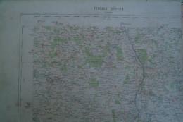 86- LUSSAC-- CARTE GEOGRAPHIQUE  FIN XIXE S.-MAZEROLLES- QUEAUX-NERIGNAC-USSON-GENCAY-L' HOMMAIZE- FLEURE- NOUAILLE - Geographische Kaarten