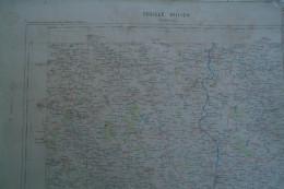 16-86- -CONFOLENS- CARTE GEOGRAPHIQUE  FIN XIXE S.-AVAILLES-BRILLAC-LESTERPS-GAJOUBERT-CHARROUX-PAYROUX-ALLOUE-SURIN- - Geographische Kaarten