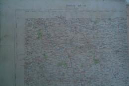 87-BELLAC- CARTE GEOGRAPHIQUE  FIN XIXE S.-VILLEFAVARD-CHATEAUPONSAC-RAZES-LE DORAT-MEZIERES- NOUIC-VAULRY-MORTEMART- - Cartes Géographiques
