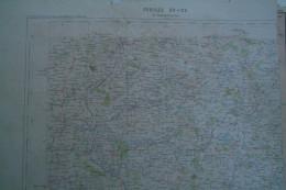 23- LA SOUTERRAINE- CARTE GEOGRAPHIQUE  FIN XIXE S.- BENEVENT-MOURIOUX-JANAILLAT-ST VAURY-FOLLE-BERSAC-ARRENES - Cartes Géographiques