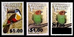 (008+11) Trinidad + Tobago  Birds / Oiseaux / Vögel / 3 Overprints / Surcharges / Rare / Wanted  ** / Mnh Michel 1026-27 - Trinidad & Tobago (1962-...)