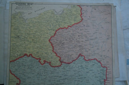 GUERRE 1914-FRONTIERES RUSSE ALLEMAGNE- AUTRICHE- MORAVIE-POLOGNE-PRUSSE-POMERANIE-RADOM-BERLIN-SAROS-VARSOVIE-BRESLAU- - Cartes Géographiques