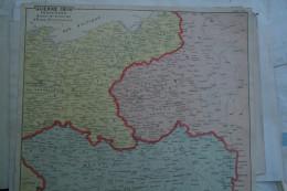 GUERRE 1914-FRONTIERES RUSSE ALLEMAGNE- AUTRICHE- MORAVIE-POLOGNE-PRUSSE-POMERANIE-RADOM-BERLIN-SAROS-VARSOVIE-BRESLAU- - Geographical Maps
