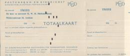 Nederland - Girobetaalkaarten Totaalkaart - Voorbedrukt - Postcheque-en Girodienst - A 40826 - Period 1949-1980 (Juliana)