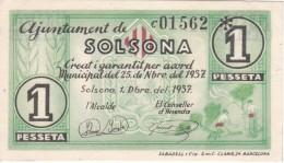 BILLETE DE 50 CTS DEL AJUNTAMENT DE SOLSONA DEL AÑO 1937 SIN CIRCULAR-UNCIRCULATED (BANKNOTE) - [ 3] 1936-1975 : Régimen De Franco