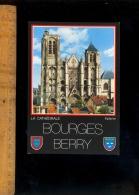 BOURGES CHer 18 : La Cathédrale Saint St Etienne Façade Occidentale Tour De Beurre Et Sourde - Bourges