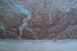 ALLEMAGNE - BAVIERE - AUGSBURG- KARTE DES DEUTSCHEN REICHS -FIN XIXE - SIGMARINGEN-BREGENZER-KONSTANZ-FELDKIRCH-ULM- - Geographical Maps