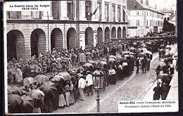 SAINT DIE 1914-1915 (88) PRISONNIERS ALLEMANDS DEVANT L´HOTEL DE VILLE PHOTOS R/V - Saint Die