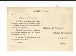 Andre Fougeron Peintre Communiste   1949 Hommage à André Houillier  Carte Pétition Tribunal Cusset 03 - Schilderijen