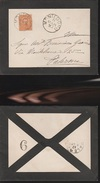 DOC2) 20 CENTESIMI (sassone 61) ARANCIO UMBERTO I SU LETTERA LISTATA A LUTTO VIAGGIATA 1893 DA MONTEDORO VERSO PALERMO - 1878-00 Umberto I