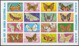 GUINEA EQUATORIAL 736-751,unused,unperforated,butterflies - Schmetterlinge